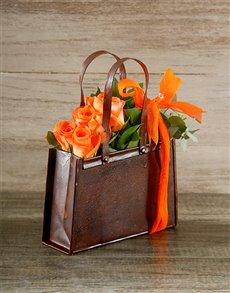 flowers: Orange Rose Handbag!
