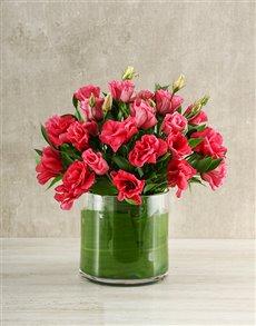 flowers: Pink Lisianthus Vas!