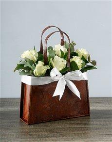 flowers: White Rose Handbag!