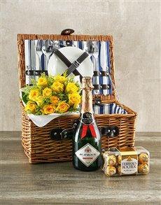 flowers: Yellow Rose Picnic Basket!