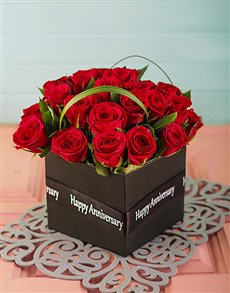 flowers: Anniversary Red Roses in a Box!