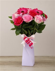 flowers: Elegant Its a Girl Arrangement!