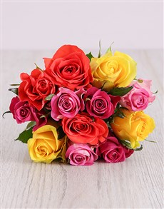 flowers: Mixed Roses Bouquet!