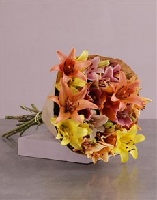 Picture of Lilies in Craft Paper!