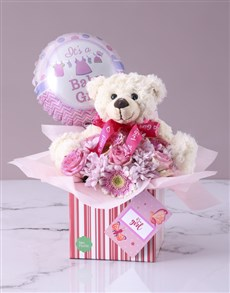 flowers: Baby Girl Floral Gift Box!