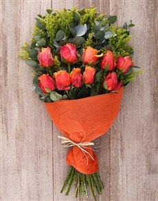 flowers: Mystical Cherry Brandy Roses Bouquet!