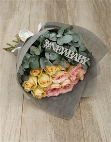 gifts: New Baby Pastel Rose Bouquet!