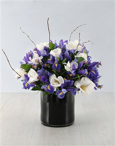 plants: Mystical Iris and Tulip Arrangement!