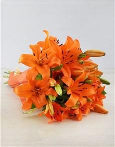 flowers: Orange Asiflorum Lily Bouquet!