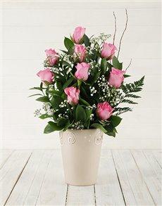 flowers: Pink Rose Pot!