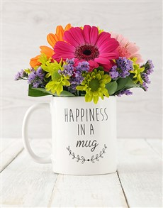 flowers: Mixed Happiness in a Cup Arrangement!