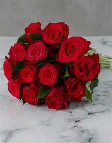 Bunch Of Red Roses in Craft Paper