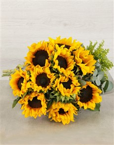 flowers: Sunflower and Goldenrod Bouquet!