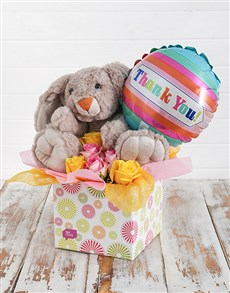 flowers: Rabbit Roses and Thank You Balloon Box!