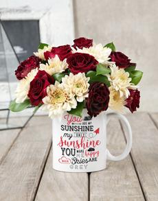 flowers: My Sunshine Rose Mug Arrangement!
