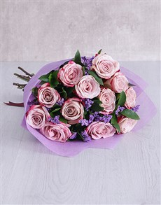 flowers: Variegated Roses in Tissue Paper!