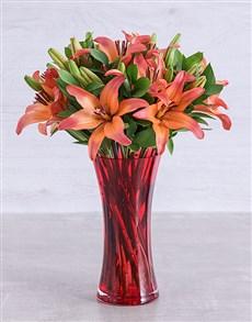 flowers: Sunset Lily Vase!