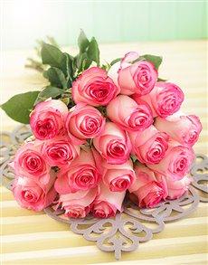 flowers: Pink Giant Ethiopian Rose Bouquet!