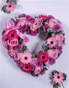flowers: Gerbera and Spray Funeral Heart!