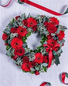 flowers: Red Gerbera Funeral Heart!