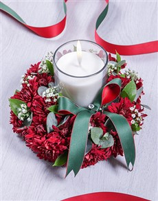 flowers: Red Spray Sympathy Candle!