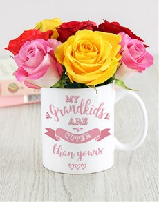 flowers: Grandkids Mug Arrangement!