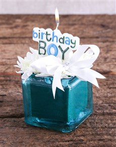 flowers: Birthday Boy Candle and Sprays Gift!