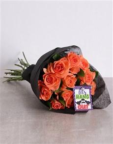 gifts: Halloween Orange Rose Bouquet!