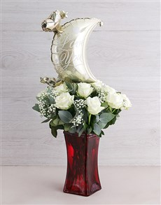 gifts: To the Moon White Rose Vase!