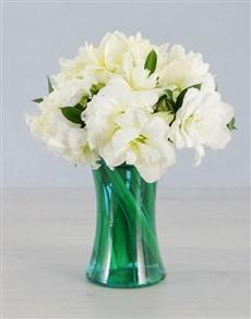 gifts: Cut Amaryllis in Blue Cylinder Vase!