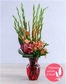 flowers: Red Gladiolus Dream Vase!