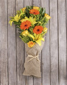 gifts: Sunshine Mixed Flower Bouquet!