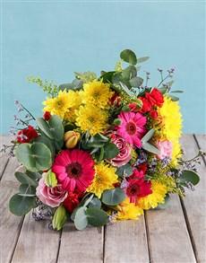 flowers: Vibrant Vibes Bouquet!