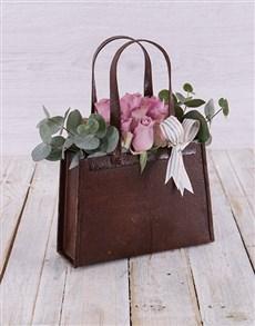 flowers: Purple Rose Handbag!