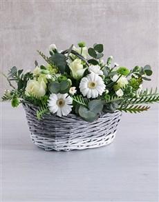 gifts: Wonderful White Flower Basket!