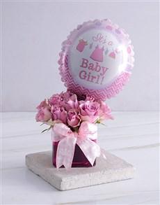 gifts: Welcome Baby Purple Arrangement!