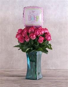 flowers: Baby Girl Cerise Roses!