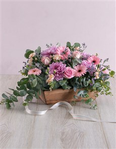 flowers: Delicate Floral in Wooden Box!