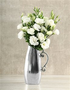 flowers: White Lisianthus Jug!