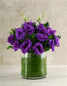 flowers: Purple Lisianthus Vase!