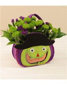 flowers: Halloween Bag with Green Sprays!
