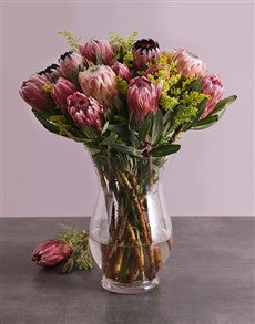 flowers: Mixed Proteas in a Vase!