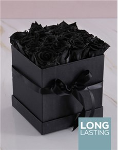 flowers: Black Preserved Roses in a Box!