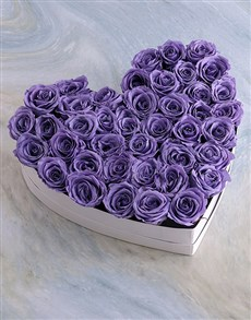 flowers: White Heart Of Lilac Preserved Roses!