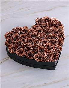 flowers: Black Heart Of Gold Preserved Roses!