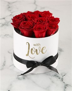 flowers: Preserved Red Roses In White Box!