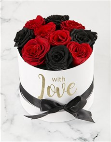 flowers: Fairytale Red and Black Roses!