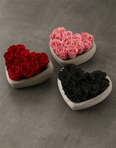 flowers: Heart Of Preserved Roses!