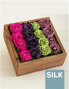flowers: Rainbow Bright Roses in a Box!