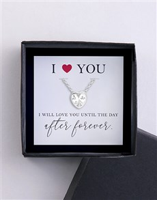 I Love You Necklace and Card